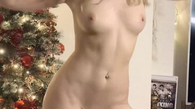 Cute blonde lady with amazing body