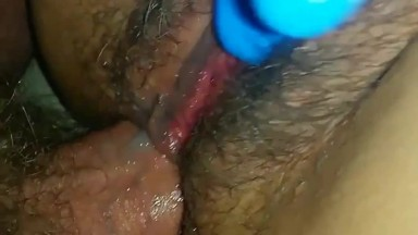 Hairy milf pussy double penetration orgasm