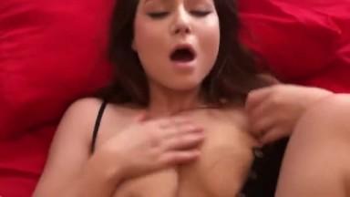 Hot amateur brunette babe both holes fucked